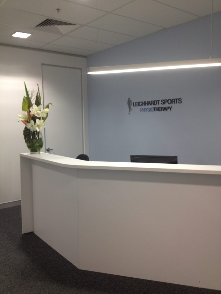 Leichhardt Sports Physiotherapy reception
