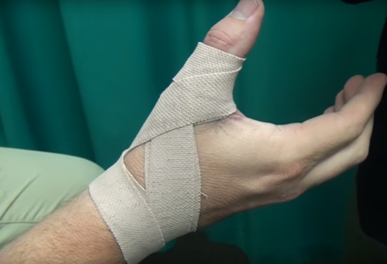 How to tape a thumb